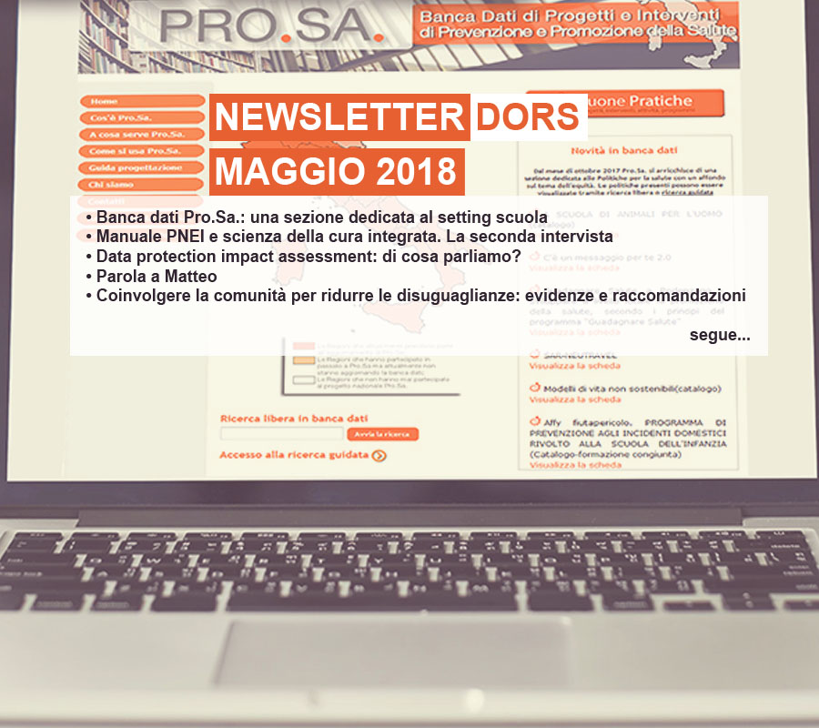Cover Notizia Primo Piano Newsletter Dors mag 2018